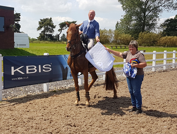 Adrian Speight claims top spot in the KBIS Insurance Senior British Novice Second Round at Willow Banks Equestrian Centre