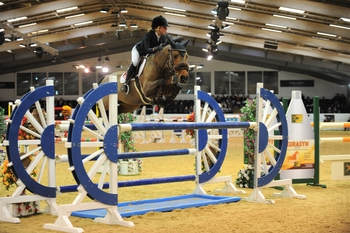 Claudia Moore and Holly Truelove are victorious in the Charles Britton Equestrian Construction Winter JA Classic Qualifiers at Arena UK