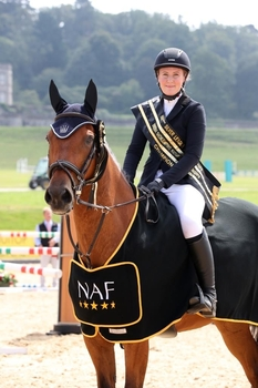 Claire Leitch claims the NAF Five Star Winter Silver League Championship