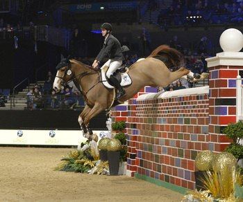 CHRIS MEGAHEY HITS THE HEIGHTS TO WIN NEW YEAR'S EVE PUISSANCE AT EQUESTRIAN.COM LIVERPOOL INTERNATIONAL HORSE SHOW