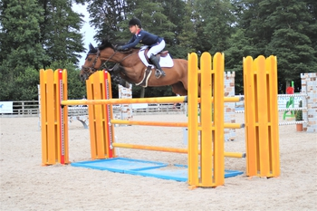 Claudia Moore tops the Equithème Leading Pony Showjumper of the Year Qualifier at Bishop Burton College
