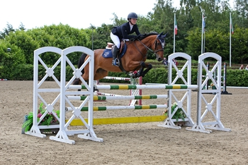 Courtney Young secures the Blue Chip Pony Newcomers Second Round at The College Equestrian Centre, Keysoe