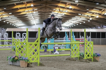 Adrian Whiteway wins the SEIB Winter Novice Qualifier at The College Equestrian Centre, Keysoe