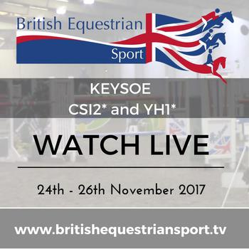 Live streaming from Keysoe CSI** International starts Friday!