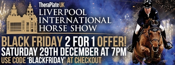Great Black Friday Offer for the Theraplate UK Liverpool International Horse Show
