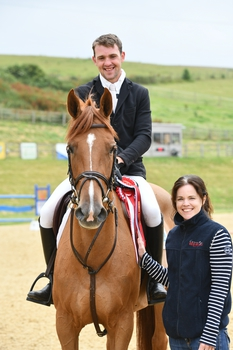 Luke Hill claims the Connolly's RED MILLS Senior Newcomers Second Round at Pyecombe Horse Show
