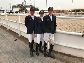 BRITISH SHOWJUMPING'S TEAM NAF SHOW FUTURE PROMISE FOR GB IN AL AIN