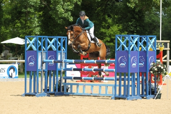 Olivia Sheppard wins the Blue Chip Pony Newcomers Second Round at Cherwell Competition Centre
