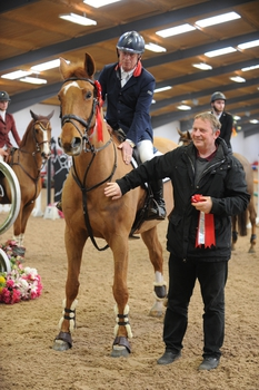 Paul Bevan is victorious in the Winter Grand Prix at SouthView Equestrian Centre