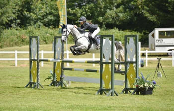 Wiltshire's Tahnia Jordan Jones wins the Blue Chip Pony Newcomers Second Round at Bicton Arena