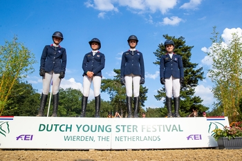 Team NAF's Children on Horses team score another Nations Cup win for Great Britain
