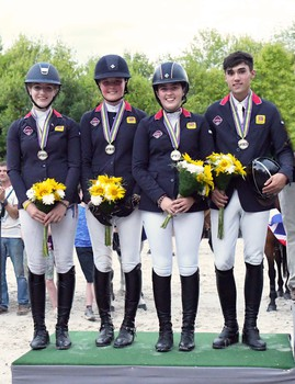 Image result for British Showjumping Team LeMieux win FEI Pony European Championships Team Silver