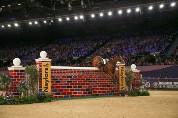 A win for Padraic Judge in The Naylors Equestrian Puissance
