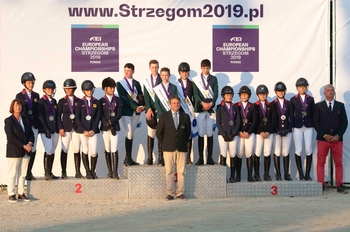 GBR's Team LeMieux finish in Silver at the Pony European Championships