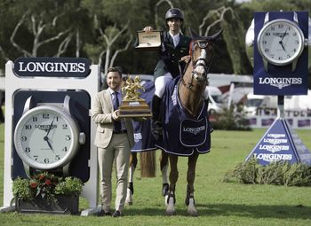 Image result for Brazil's Yuri Mansur wins King George V Gold Cup, Hickstead
