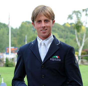 Ben Maher wins the leading rider award at London Olympia.