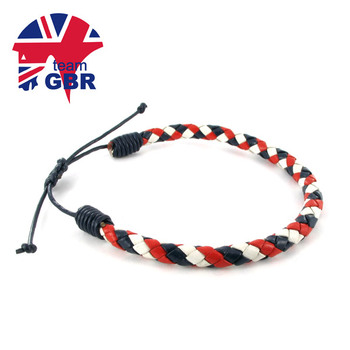 Support Equestrian Team GBR by wearing the official leather bracelet