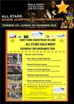 Live Streaming from Bury Farm All Stars Showjumping Championships
