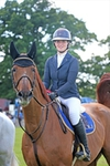 Nicole Pavitt is victorious in the British Horse Feeds Speedi-Beet HOYS Grade C Qualifier at the South of England Show