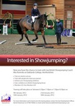 British Showjumping Training at Oaklands College, Herts.