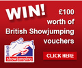 5 lots of £100 British Showjumping Vouchers to giveaway